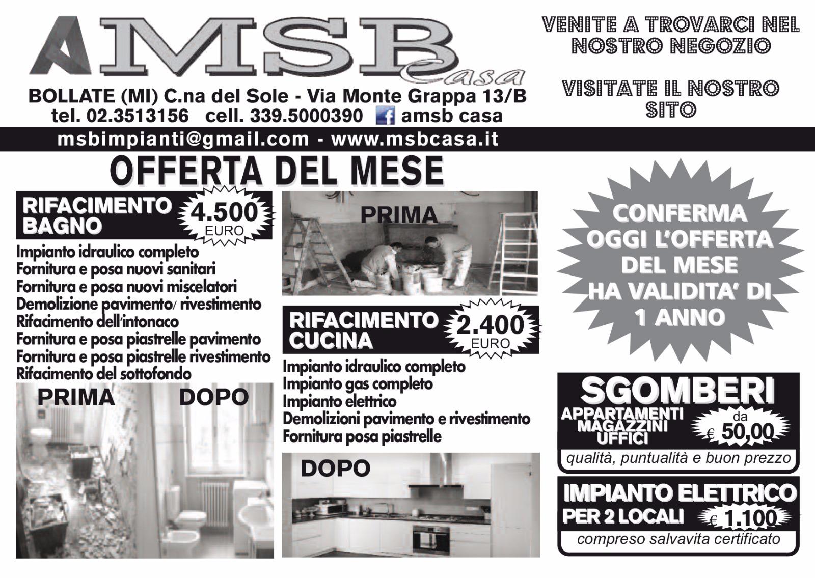 Amsb casa offerta bagno completo a bollate amsb casa for Casa prefabbricata offerta del mese